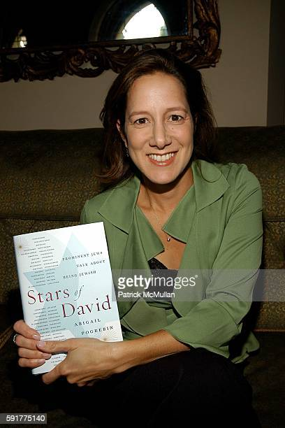 Abigail Pogrebin attends Michael Lynton and Jamie Alter and David Kuhn Celebrate the Publication of Abigail Pogrebin's Book 'Stars of David' at...