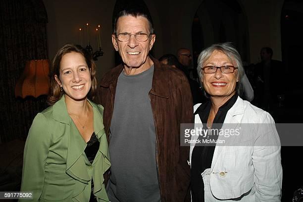 Abigail Pogrebin, Leonard Nimoy and Susan Nimoy attend Michael Lynton and Jamie Alter, and David Kuhn Celebrate the Publication of Abigail Pogrebin's...