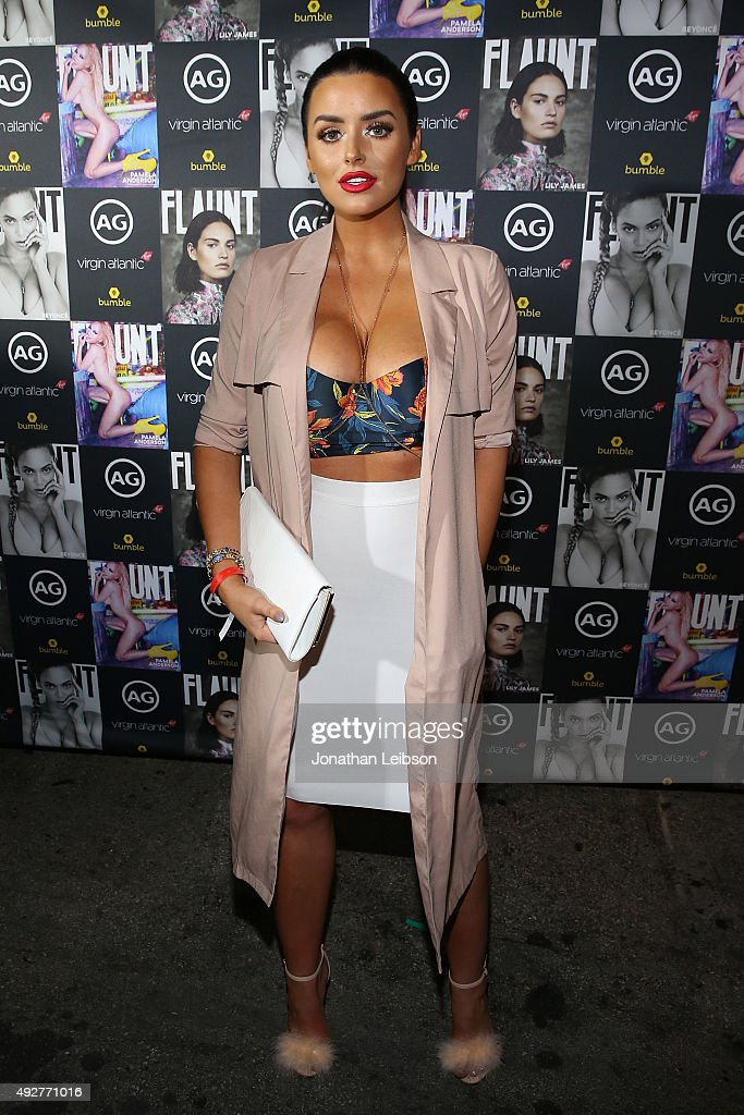 Abigail Ratchford attends the Flaunt Magazine And AG Celebrate The LA launch Of The CALIFUK Issue At The Hollywood Roosevelt at Hollywood Roosevelt Hotel on October 14, 2015 in Hollywood, California.