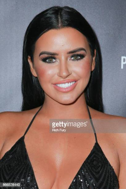 Abigail Ratchford attends the launch of PrettyLittleThing by Kourtney Kardashian at Poppy on October 25 2017 in Los Angeles California