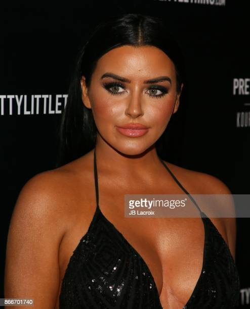 Abigail Ratchford attends the PrettyLittleThing By Kourtney Kardashian Launch on October 25 2017 in Los Angeles California
