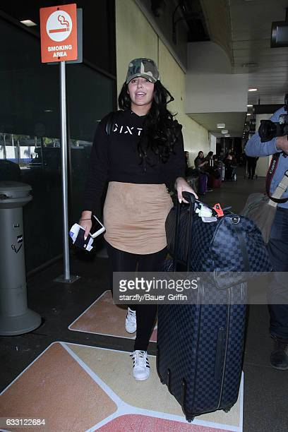 Abigail Ratchford is seen at LAX on January 30 2017 in Los Angeles California