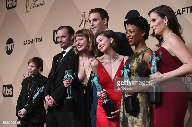 Abigail Savage James McMenamin Emily Althaus Alan Aisenberg Kimiko Glenn Samira Wiley and Julie Lake pose in the press room during the 23rd Annual...