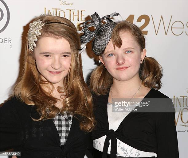 Abigail Shapiro and Milly Shapiro attend 'A Musical Tribute to Stephen Sondheim' at 42West on March 22 2015 in New York City