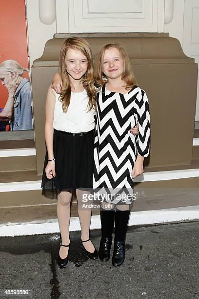 Abigail Shapiro and Milly Shapiro attend the Broadway opening night for The Velocity of Autumn at Booth Theatre on April 21 2014 in New York City