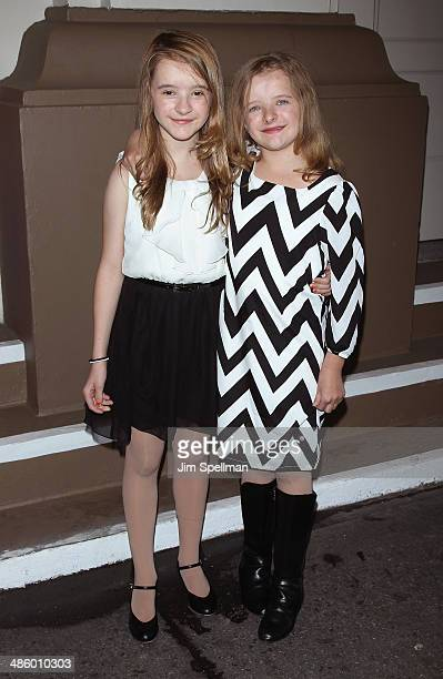 Abigail Shapiro and Milly Shapiro attend the Broadway opening night for The Velocity of Autumn at Booth Theatre on April 21 2014 in New York City...