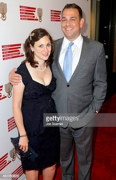 Abigail Shrier and Zack Shrier attend American Friends Of The Israel Philharmonic Orchestra Benefit Honoring Hans Zimmer at Wallis Annenberg Center...