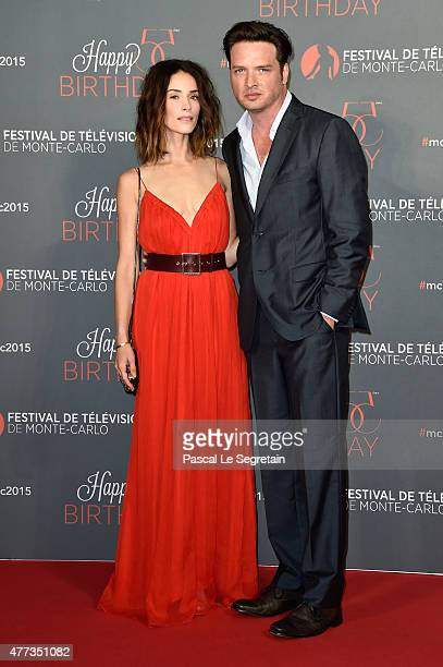Abigail Spencer and Aden Young attend the 55th Monte Carlo Beach anniversary as part of Monte Carlo TV Festival on June 16 2015 in MonteCarlo Monaco