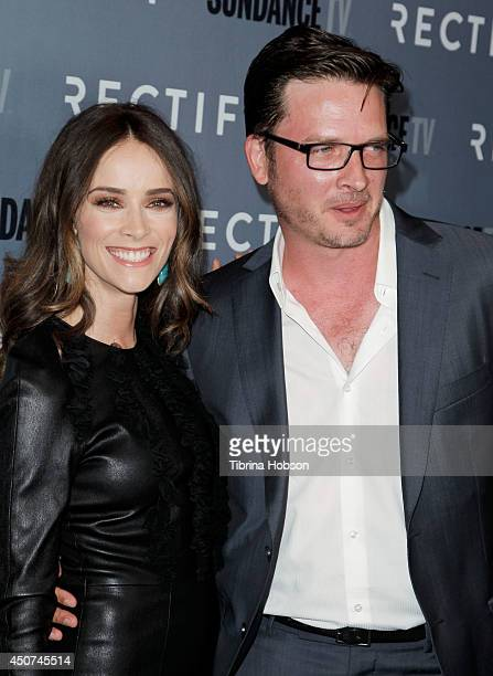 Abigail Spencer and Aden Young attend the SundanceTV's series season 2 premiere of 'Rectify' at Sundance Sunset Cinema on June 16 2014 in Los Angeles...