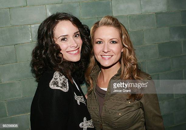 Abigail Spencer and Ali Hillis attend the Alternative Apparel Launch of ReThink Vol 2 at Petit Ermitage Hotel on November 19 2009 in West Hollywood...