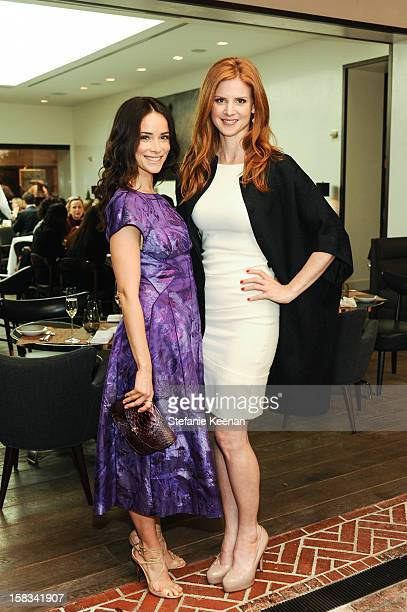 Abigail Spencer and Sarah Rafferty attend Rochelle Gores Fredston and Angelique Soave Host Luncheon Honoring Gilles Mendel at Spago at Spago on...