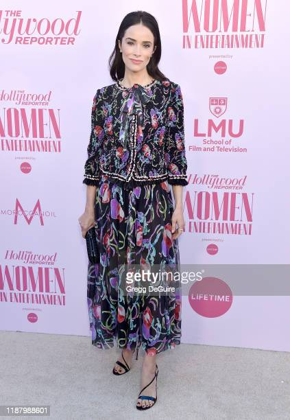 Abigail Spencer arrives at The Hollywood Reporter's Annual Women in Entertainment Breakfast Gala at Milk Studios on December 11 2019 in Hollywood...