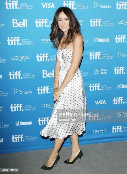 Abigail Spencer arrives at the photocall of The Forger held during the 2014 Toronto International Film Festival Day 9 on September 12 2014 in Toronto...