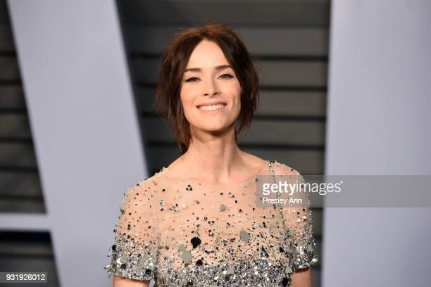 Abigail Spencer attends the 2018 Vanity Fair Oscar Party Hosted By Radhika Jones - Arrivals at Wallis Annenberg Center for the Performing Arts on...