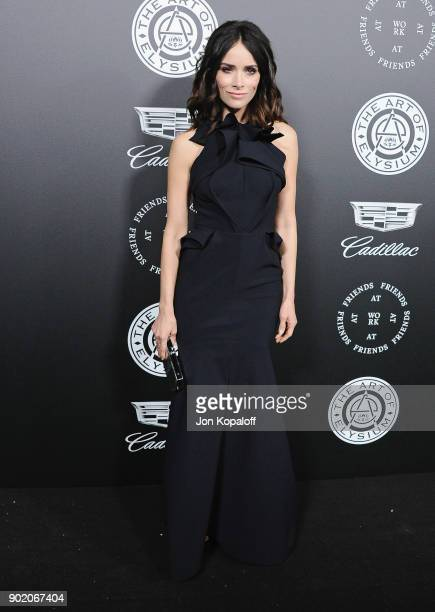 Abigail Spencer attends The Art Of Elysium's 11th Annual Celebration Heaven at Barker Hangar on January 6 2018 in Santa Monica California