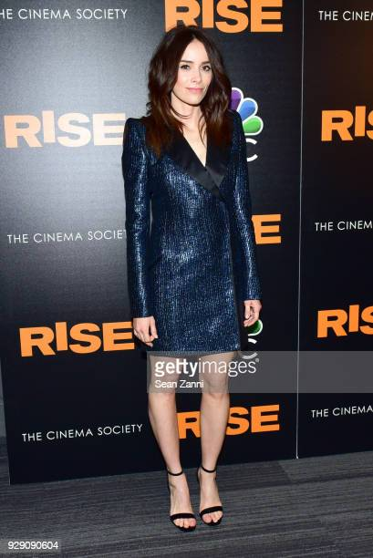 Abigail Spencer attends the premiere of 'Rise' hosted by NBC The Cinema Society at The Landmark at 57 West on March 7 2018 in New York City