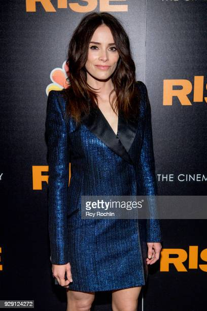 Abigail Spencer attends the Rise New York premiere at Landmark Theatre on March 7 2018 in New York City
