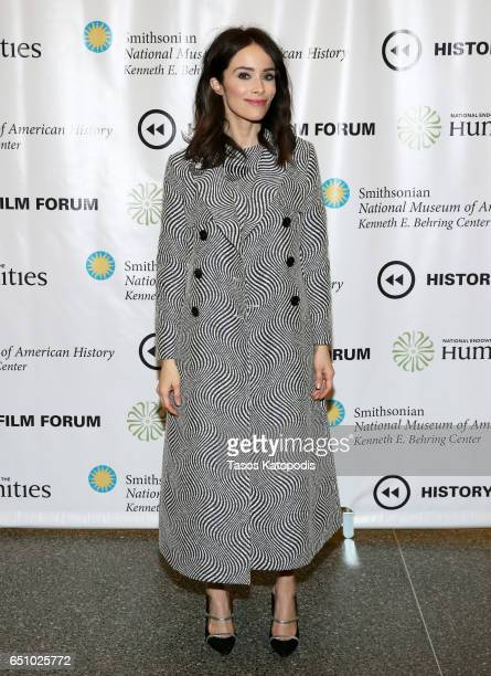 Abigail Spencer attends the screening of NBC and Sony Pictures Television Series Timeless at the Smithsonian National Museum Of American History on...