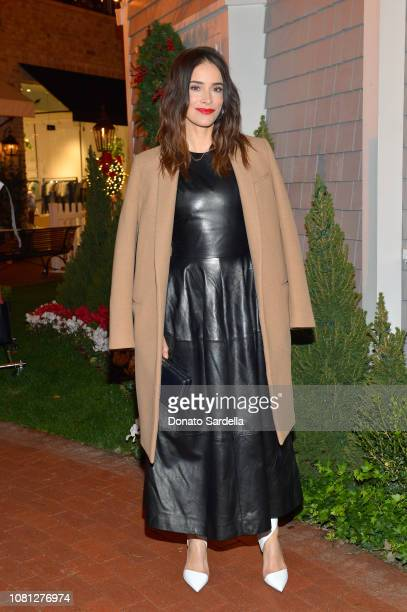 Abigail Spencer attends the Tamara Mellon Palisades Village Opening Party at Blue Ribbon Sushi on December 11 2018 in Pacific Palisades California