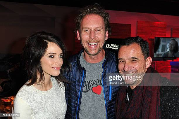 Abigail Spencer Jayson Warner Smith and Christian Vesper attend The Hollywood Reporter and SundanceTV's Sundance Film Festival kickoff party at the...
