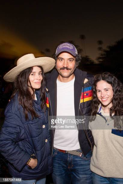 Abigail Spencer, Josh Radnor and friend attend Cinespia's screening of 'Harry Potter and the Prisoner of Azkaban' held at Hollywood Forever on August...
