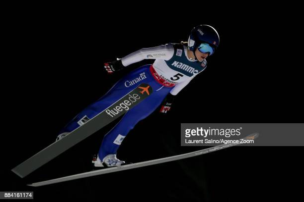 Abigail Strate of Canada competes during the FIS Nordic World Cup Women's Ski Jumping HS100 on December 1 2017 in Lillehammer Norway