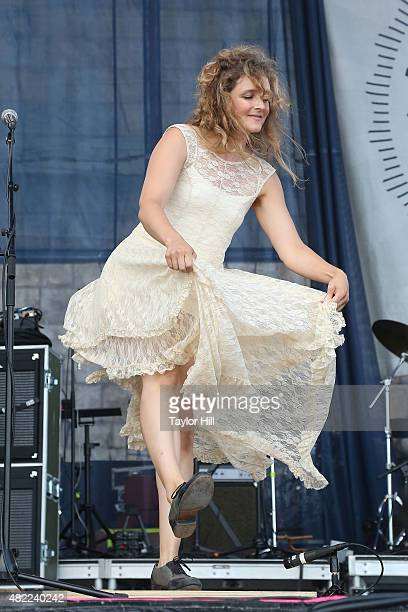 Abigail Washburn performs during the 2015 Newport Folk Festival at Fort Adams State Park on July 25 2015 in Newport Rhode Island