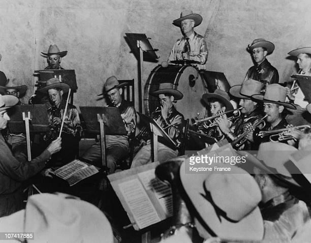 Abilene Municipal Band In Usa On June 1945
