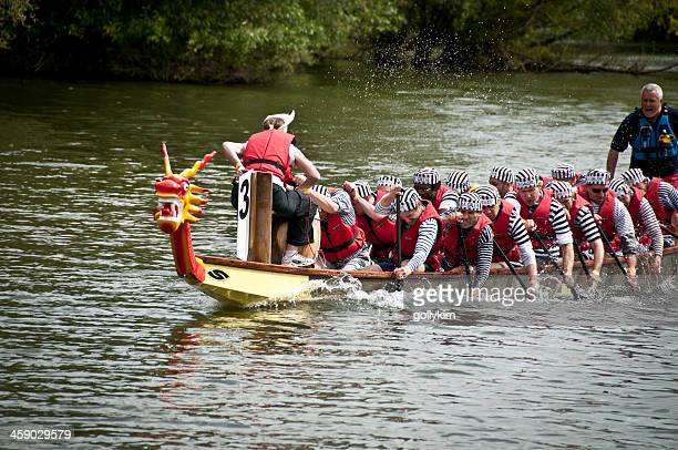 abingdon's annual dragon boat event - dragon boat festival stock pictures, royalty-free photos & images