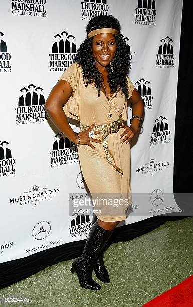 Abiola Abrams attends the 4th annual Thurgood Marshall College Fund Front Row Fashion Show at the Roseland Ballroom on October 24 2009 in New York...