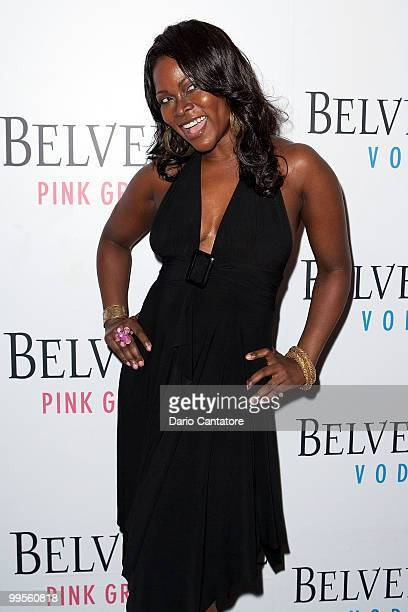 Abiola Abrams attends the Belvedere Pink Grapefruit In The Pink launch party at The Belvedere Pink Grapefruit PopUp on May 14 2010 in New York City