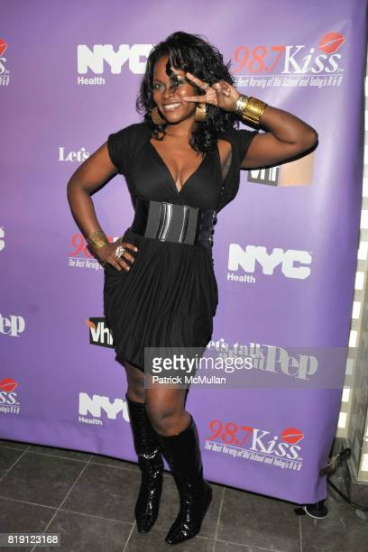 Abiola Abrams attends VH1's 'LET's TALK ABOUT PEP' Finale Celebration at Comix on March 1 2010 in New York City