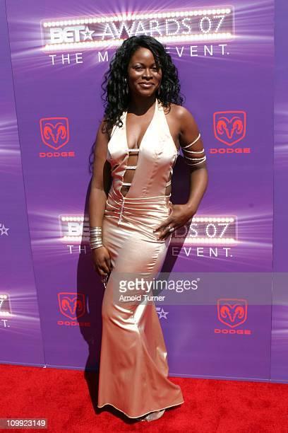 Abiola Abrams during BET Awards 2007 Black Carpet at Shrine Auditorium in Los Angeles California United States