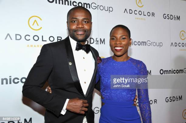 Abiola Oke and Luvvie Ajayi attend the 11th Annual ADCOLOR Awards at Loews Hollywood Hotel on September 19 2017 in Hollywood California