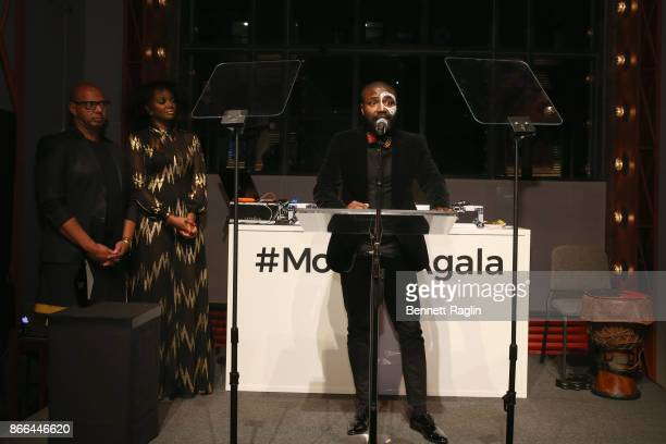 Abiola Oke attends the MoCADA 3rd Annual Masquerade Ball at Brooklyn Academy of Music on October 25 2017 in New York City