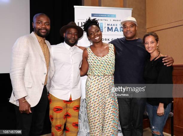 Abiola Oke Director Blitz Bazawule Filmmaker/actress Adepero Oduye and Filmmaker/actress Shawn Peters and UrbanWorld Film Festival Director Gabrielle...