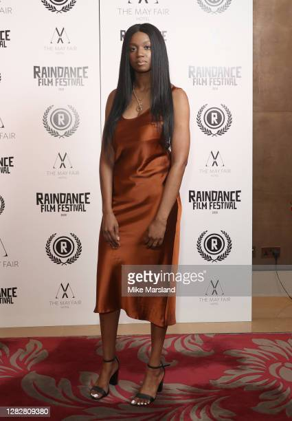 """Abiola Rufai attends the """"Stardust"""" Opening Film & UK Premiere during the 28th Raindance Film Festival at The May Fair Hotel on October 28, 2020 in..."""