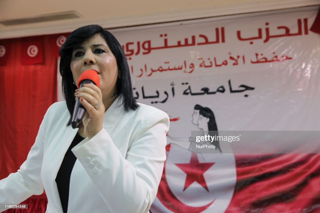 Abir Moussi Holds Rally In Ariana, Tunisia : News Photo