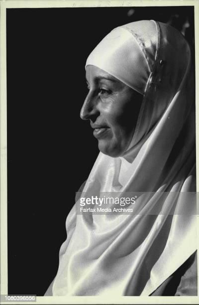 Abla Kadous Sec of the Muslims Womens Assoc April 02 1987