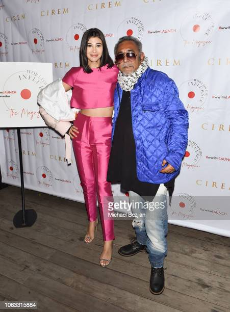 Abla Sofy and Ash Gupta attend the Worldwide Influence The Magazine Online Splashy Launch Celebration #wwitmlaunch at SIXTY Beverly Hills on November...