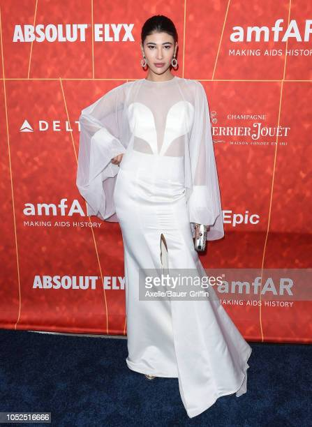 Abla Sofy attends the amfAR Gala Los Angeles 2018 at Wallis Annenberg Center for the Performing Arts on October 18 2018 in Beverly Hills California