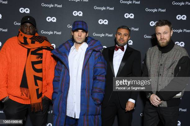 Ablaye Orelsan a guest and Skread attend GQ Men Of The Year Awards 2018 at Centre Pompidou on November 19 2018 in Paris France