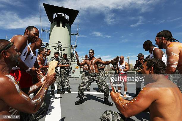 Able Seaman Arthur Bagie on board the HMAS Tobruk, which has the largest number of Indigenous crew members to any Royal Australian Navy ship, at...