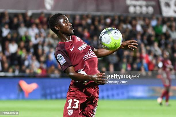 Ablie Jallow of Metz during the Ligue 1 match between FC Metz and AS Monaco on August 18 2017 in Metz