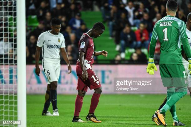Ablie Jallow of Metz looks dejected during the Ligue 1 match between FC Metz and AS Monaco on August 18 2017 in Metz