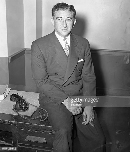 Abner 'Longey' Zwillman a Dutch Shultz ally who is very rarely photographed is pictured at Federal Courthouse in New York where he refused to answer...