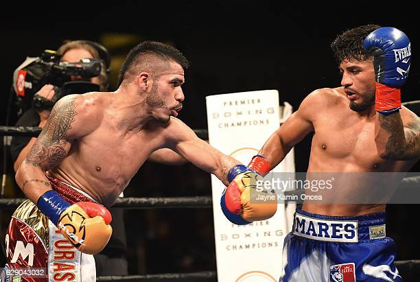 Abner Mares as he defeated Jesus Cuellar in the WBA Featherweight Championship Bout at the Galen Center at the University of Southern California on...