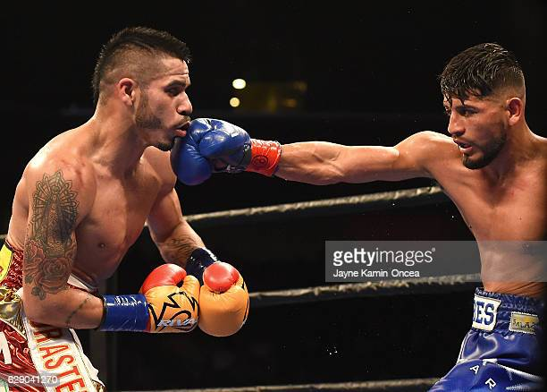 Abner Mares defeated Jesus Cuellar in the WBA Featherweight Championship Bout at the Galen Center at the University of Southern California on...