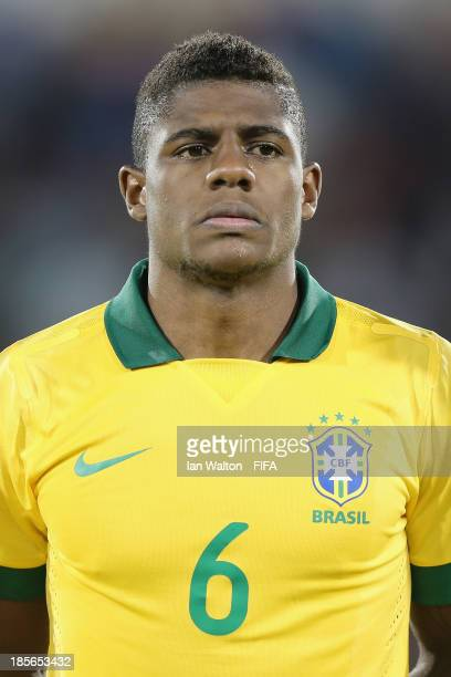 Abner of Brazil during the Group A FIFA U17 World Cup match between Honduras and Brazil at Ras Al Khaimah Stadium on October 23 2013 in Ras al...