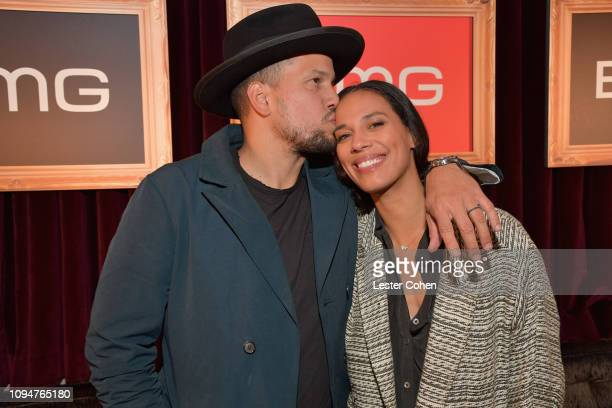 Abner Ramirez and Amanda Sudando attend BMG celebrates its artists and songwriters during Grammy week at No Name on February 6 2019 in Los Angeles...